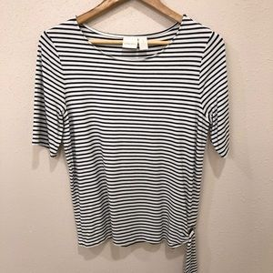 Chico's Striped Shirt With Side Tie